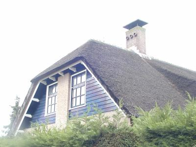 thatched roof of one of the interesting homes of Aalsmeer