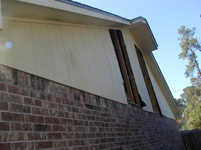 two holes in house