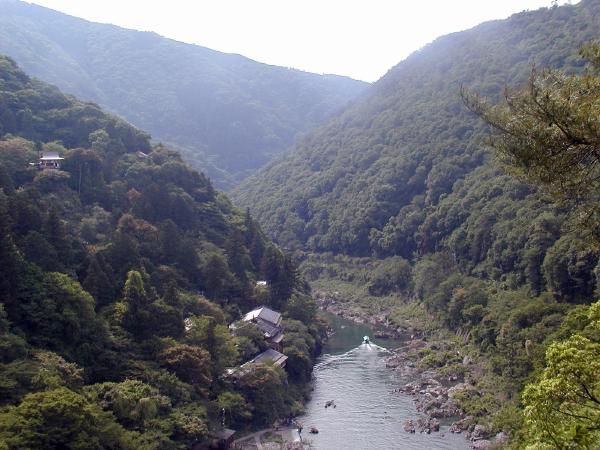 view at arishiyama