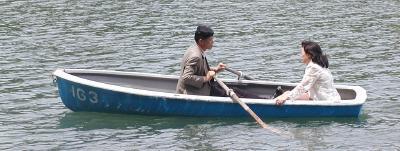 rowboat at arishiyama