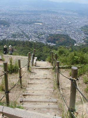 path from peak of daimonji-yama