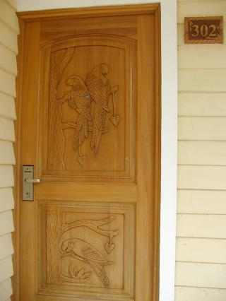 our front door was carved from mahogany by prisoners, according to 