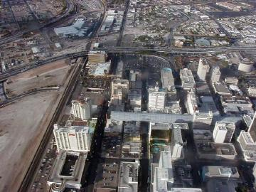 fremont street from the air