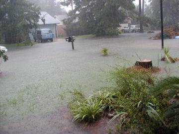 floodwaters rising to our front door step