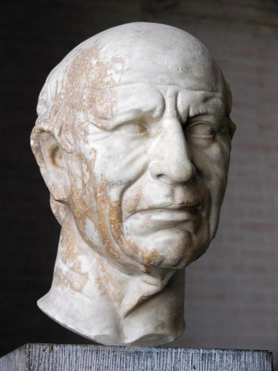 keepin' it real in this roman face