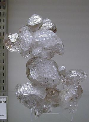herkimer diamond from ace of diamonds mine, new york herkimer county
