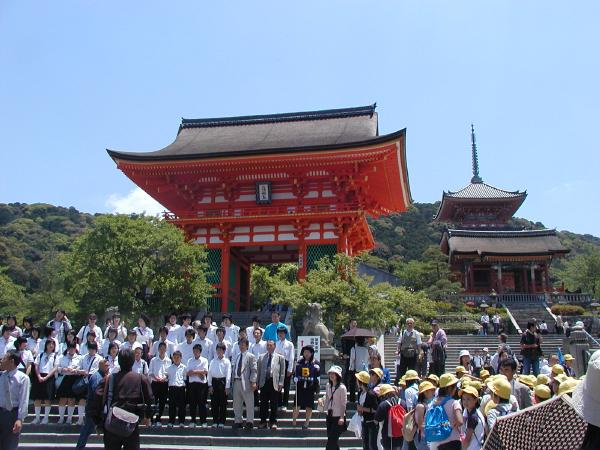 the real kiyomizu-dera with its herds of schoolchildren
