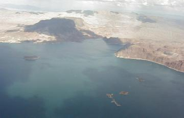 Lake Mead, an artificial lake created by Hoover Dam