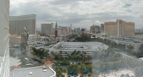 view from mirage casino, vegas