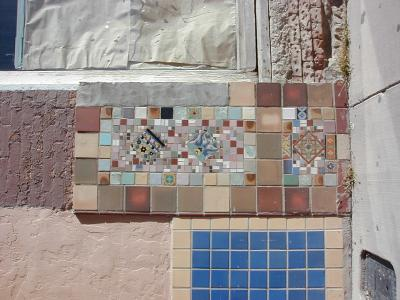 old mosaic, wall, silver city, new mexico