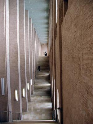 stairs at alte pinokothek, munich