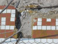old mosaic near boardwalk at atlantic city