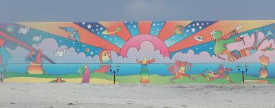 peter max mural on the atlantic city beach