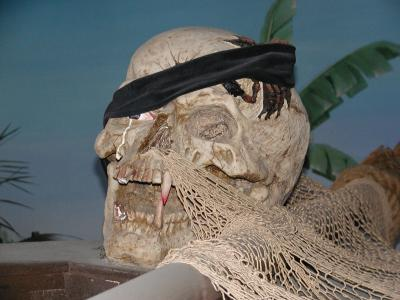 fake internet skull, not a saint's skull or anything