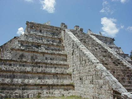detail of top of pyramid at Chichen Itza