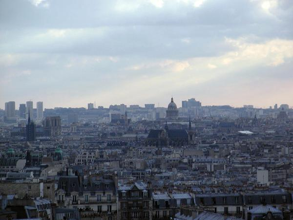 view from Sacred Heart Basilica in Paris
