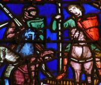 detail, glass scene, st. chapelle