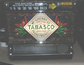 photo of Tabasco themed slot machine